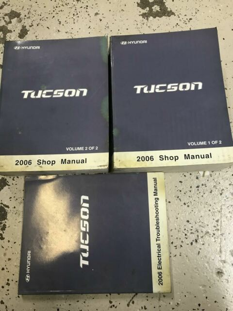 2006 Hyundai Tucson Service Repair Shop Manual Set Factory