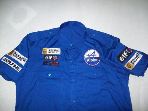 NEU REANAULT ALPINE Fan Hemd blau shirt blue blouse camisa chemise skjorta