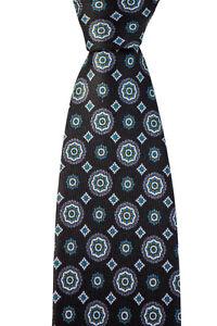 """Men's BRIONI dis n D060405 Black Florette & Diamond 3.25"""" 100% Silk Neck Tie NWT"""