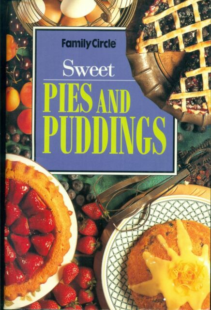 FAMILY CIRCLE - SWEET PIES and PUDDINGS - MINI COOKBOOK - SC - LIKE NEW COND
