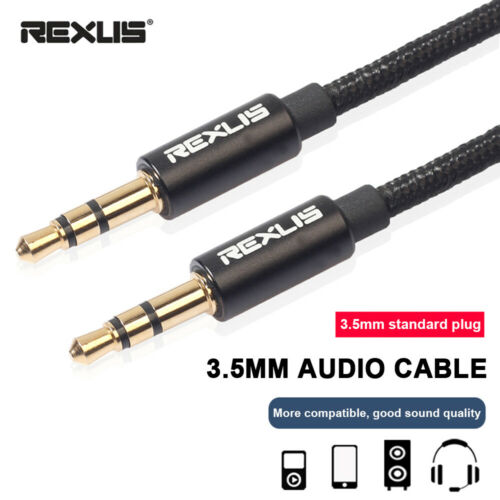 3.5mm Audio Cable Stereo AUX Cord Male to Male For PC Phone Headset Speaker New