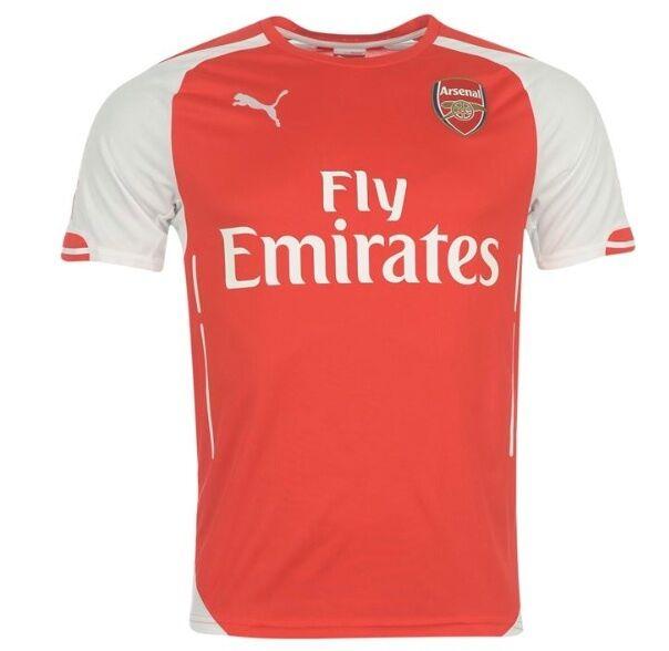 Puma Arsenal London London London Heim Trikot 2014 2015 alle Größen Weiß Rot Neu mit Etikett 00ea92