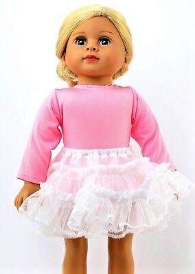 """Debs Petticoat Crinoline Dress-Skirt Slip Doll Clothes For 18/"""" American Girl"""
