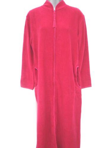 Abito Vestaglia in Pile Accappatoio Camicia da notte super riscaldante 2 pulsante stili Trogolo /& Zip