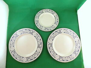 Royal-Doulton-Oakdene-2-x-Dinner-Plates-and-Salad-Plate