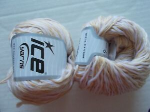 white//gray tweed 88 yds each Ice Viscose Linen fashion yarn lot of 2
