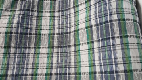 POLY COTTON STRETCH TARTAN AND SMALL FIGURED FABRIC-SOLD BY THE METER