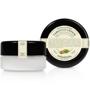 Mondial-Luxury-Italian-Shaving-Cream-Green-Tobacco-In-Jar-140ml