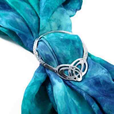 Celtic Heart Large Pewter Scarf Ring Sash Ring Gift Boxed