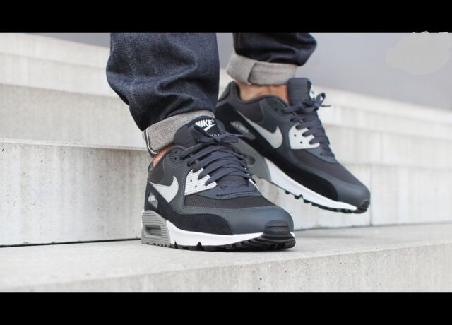 7e361d23fc8 Nike Air Max 90 Essential Anthracite Black Running Shoes Sz 12 for ...