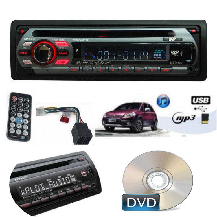 autoradio: AUTORADIO FM STEREO PER AUTO SLOT USB CD AUX MP3,WMA SD FRONTALINO RIMOVIBILE
