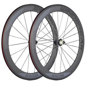 38-50-60-88mm-Carbon-essieu-porteur-route-700-C-velo-cycle-Roues-avec-frein-de-basalte