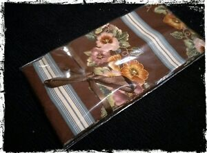 New-Washable-COVER-for-Draft-Excluder-Draft-Stopper-Door-Snake-Brown-pansies