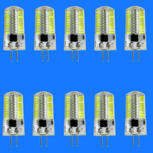 USA 10pcs G4 LED Bulb Dimmable 72 4014 Silicone Crystal chandeliers 6500K 120V