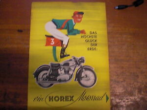 original prospekt sales brochure horex motorrad resident. Black Bedroom Furniture Sets. Home Design Ideas