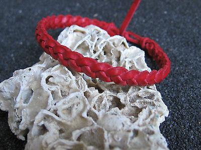 Fashion Leder Armband bunt - siehe Auswahl - rot pink grün gelb Lederarmband
