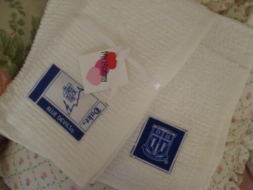 DUKE BLUE DEVILS  COTTON  BAR KITCHEN TAILGATE TOWELS SET OF  2  UNIQUE GIFT