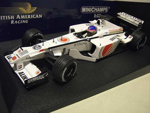 F1 BAR HONDA 03 formule 2001  10 VILLENEUVE LOOK ALIKE 1 18 MINICHAMPS 100010010
