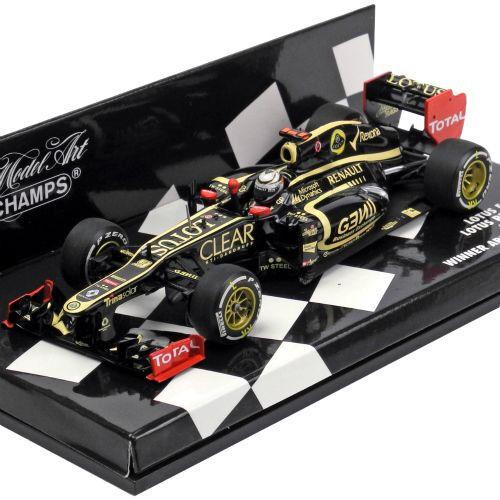 Minichamps 1 43 F1 Lotus Renault E20 Kimi Raikkonen 2012 ganador del Gran Premio de Abu Dhabi