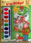 Painting Time: Happy Holidays : Paint Box Book by Golden Books Staff (1999, Paperback)