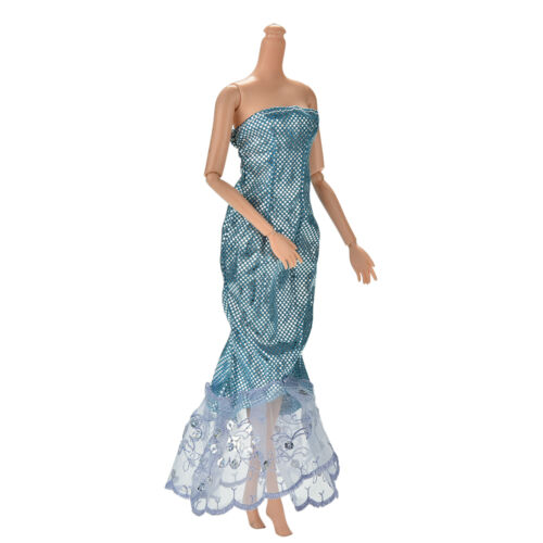 "1 Pc Fashion Sequin Sky Blue Mermaid Dress for 11/"" s Dolls New Beauty SL"