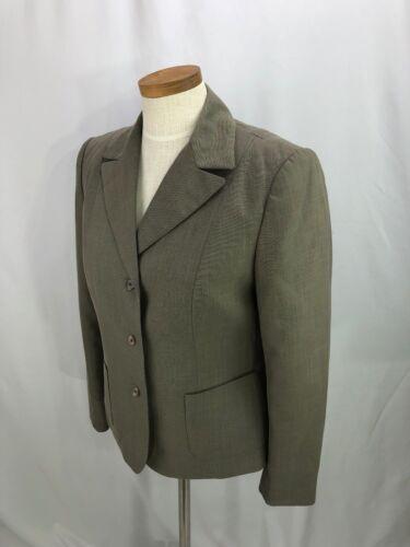 Business Blazer Jacket Calvin Career Taupe Klein 6 Gray Women's HOwfqXO