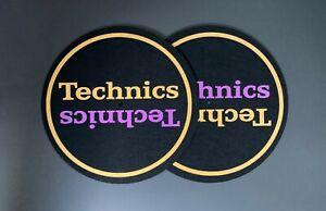 Paire-de-Technics-Or-amp-Violet-DJ-Slipmats-sl1200s-mk5-m3d-m5g-ou-un-plateau-tournant