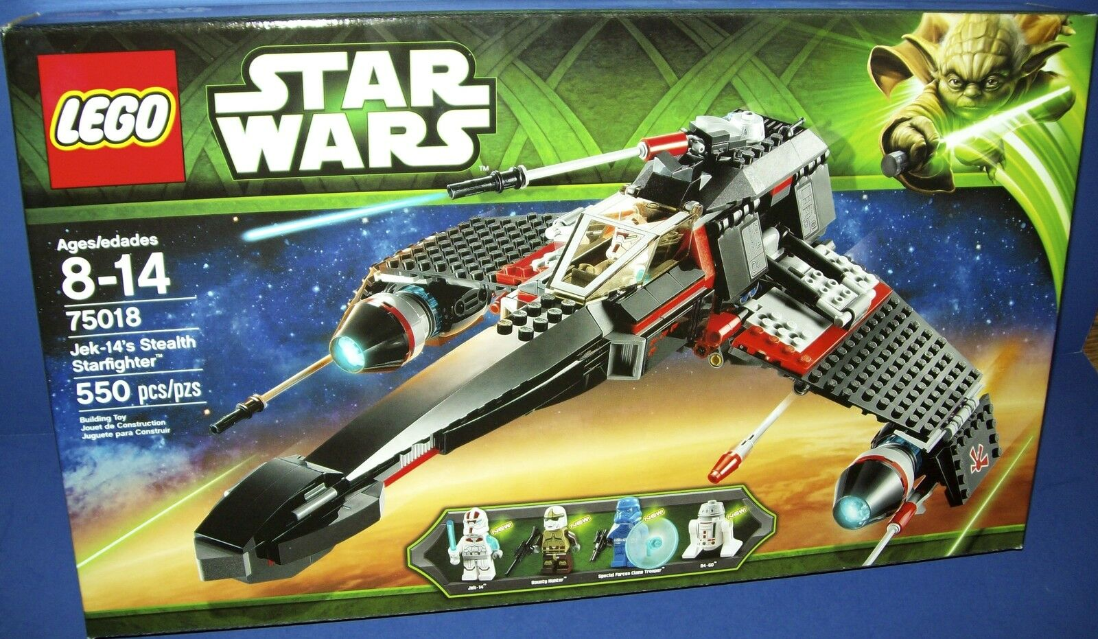 LEGO 75018 JEK-14's STEALTH STARFIGHTER  STAR WARS NISB new HTF retiROT