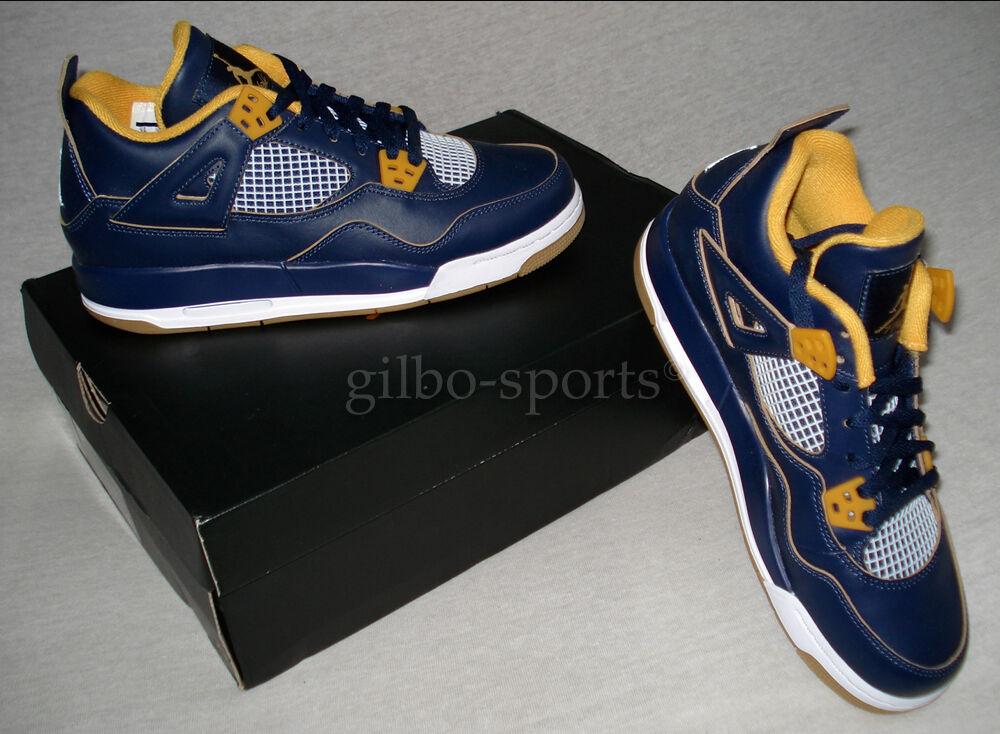 Nike Jordan 4 Retro BG Navy Blue Metallic Gr 36 36,5 38 38,5 40 Neu 408452 425