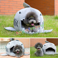 Soft Luxury Shark Mouth Pet Dog Cat House Removable & Washable Dog Bed Kennel