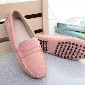 Womens-Slip-Loafers-Moccasins-leather-pumps-on-Suede-Ladies-Shoes-Flats-Driving