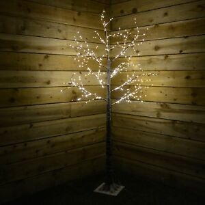 White Led Outdoor Christmas Lights.Details About 1 5m Indoor Outdoor Christmas Deco Tree With 400 Warm White Led Lights