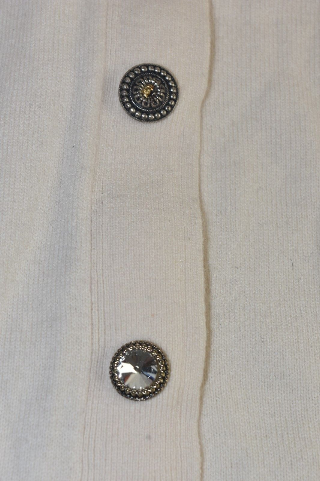 395 NEW TORY BURCH Merino Wool Jeweled Button Cardigan Cardigan Cardigan Sweater Satchet Ivory XS f3496d