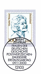 Fougueux Rfa 2000: Grethe Weiser Nº 2149 Avec Le Berliner Ersttags-cachet Spécial 1a 1608-rstempel 1a 1608fr-fr Afficher Le Titre D'origine
