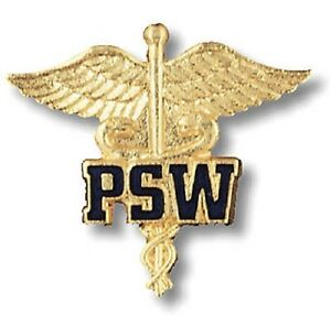 PSW Caduceus Canada Medical Emblem Patient Service Pin