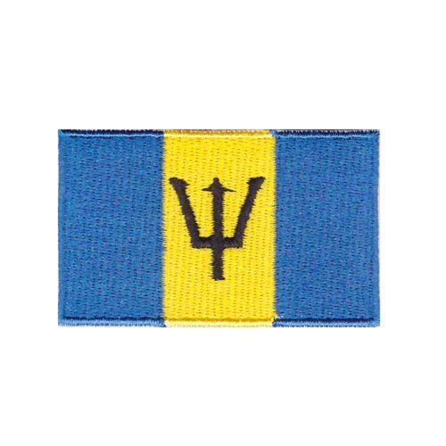 """Drapeau de la Barbade Iron On Patch 2 1//2/"""" x 1 1//2/"""" LIVRAISON GRATUITE par Enveloppe Courrier"""