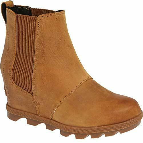 fb3e11d10dc3 Sorel Women s Joan of Arctic Wedge II Chelsea Boot 1808551 Camel Brown Size  9.5 for sale online