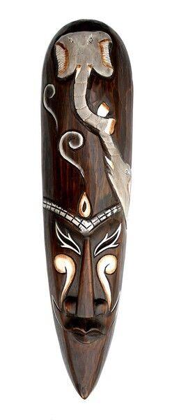 NEU Schöne große Maske Elefant Holz Tier Afrika Maske06