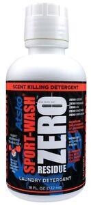 NEW-Atsko-Zero-Sport-Wash-Laundry-Detergent-Black-18-oz-1338Z