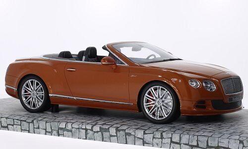 Bentley Continental Gt Speed Convertible 2013 arancia 1:18 Model MINICHAMPS