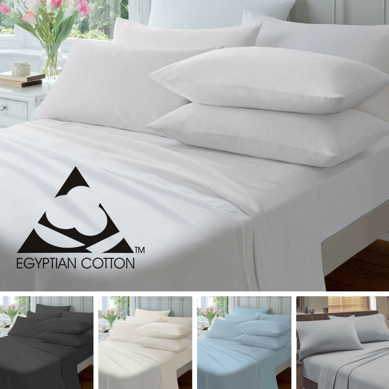NEW Certified Egyptian Cotton 175gsm Flannelette Bed Sheet Set KING   129.95