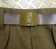 Genuine Russian/USSR/Soviet/CCCP Army Belt With Hammer And Sickle Buckle NEW