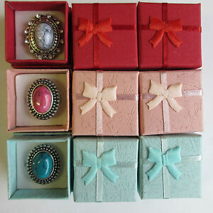Wholesale-12-24-48-Jewellery-Gift-Boxes-Rings-Brooch-Display-Red-Pink