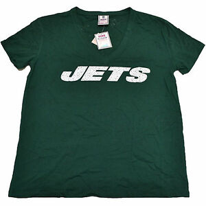 52ec7b23 Details about Victoria's Secret Pink T Shirt New York Jets Oakland Raiders  Graphic Bling Nfl