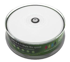 500-MEDIARANGE-DVD-R-FULL-PRINT-INKJET-DVDR-4-7GB-120-MINUTI-CAKE-DA-25-PZ-MR407