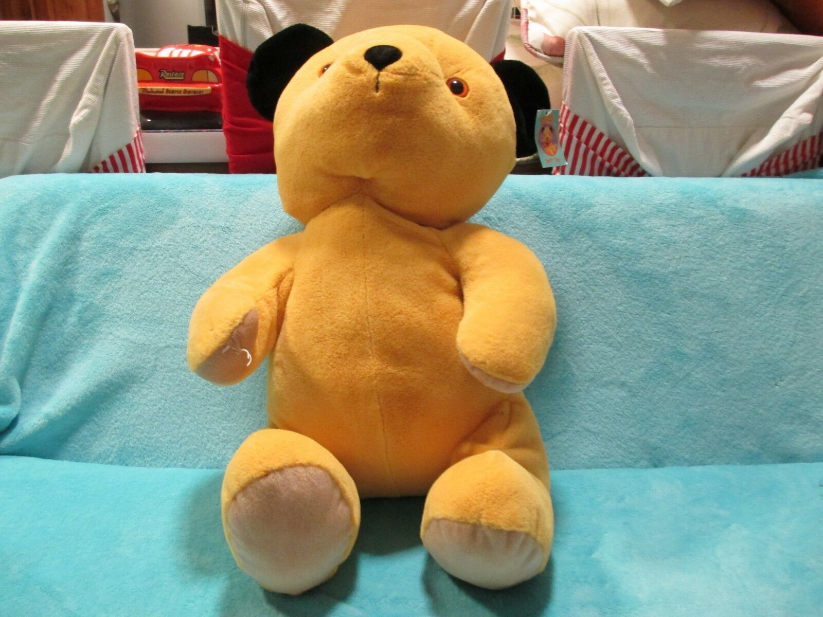 TAGS Cadells 2009 Whitehouse Sooty And Sweep - LARGE Soft Plush Beanie Toy 18