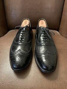 "ALLEN EDMONDS ""McAllister"" Black Leather Men's Oxford Shoes Wing Tip 10 D $345"