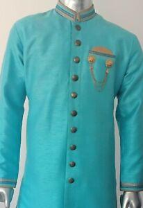 Ethnic-Men-039-s-Indian-Kurta-Sherwani-2-pcs-Indo-Western-Suit-Weddings-Groomsmen