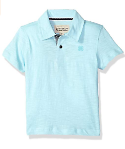 Lucky-Brand-Boys-039-Short-Sleeve-Solid-Polo-3T-Washed-Plume