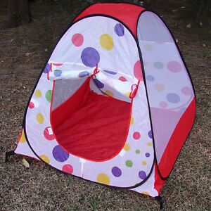 Image is loading Kids-Ball-House-Hideaway-Pop-Up-Play-Tent- & Kids Ball House Hideaway Pop Up Play Tent Cubby House Fold-up ...